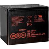 Аккумулятор WBR GPL 12750 ( 12V 75Ah / 12В 75Ач ) - фотография