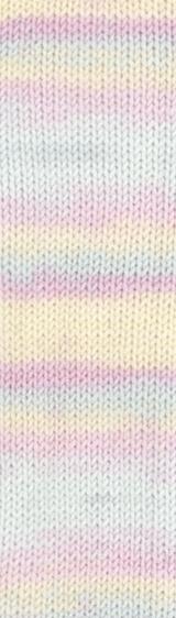 Пряжа Alize Baby Best Batik 6655 желто-розовый