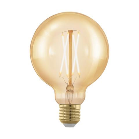 Лампа  LED филаментная диммир. золотого цвета Eglo GOLDEN AGE LM-LED-E27 4W 320Lm 1700K G95 11693
