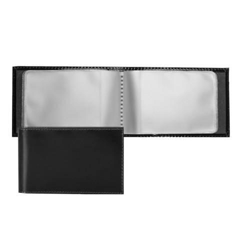 Визитница карманная Fabula Classic из натуральной кожи черного цвета (V.30.SH)