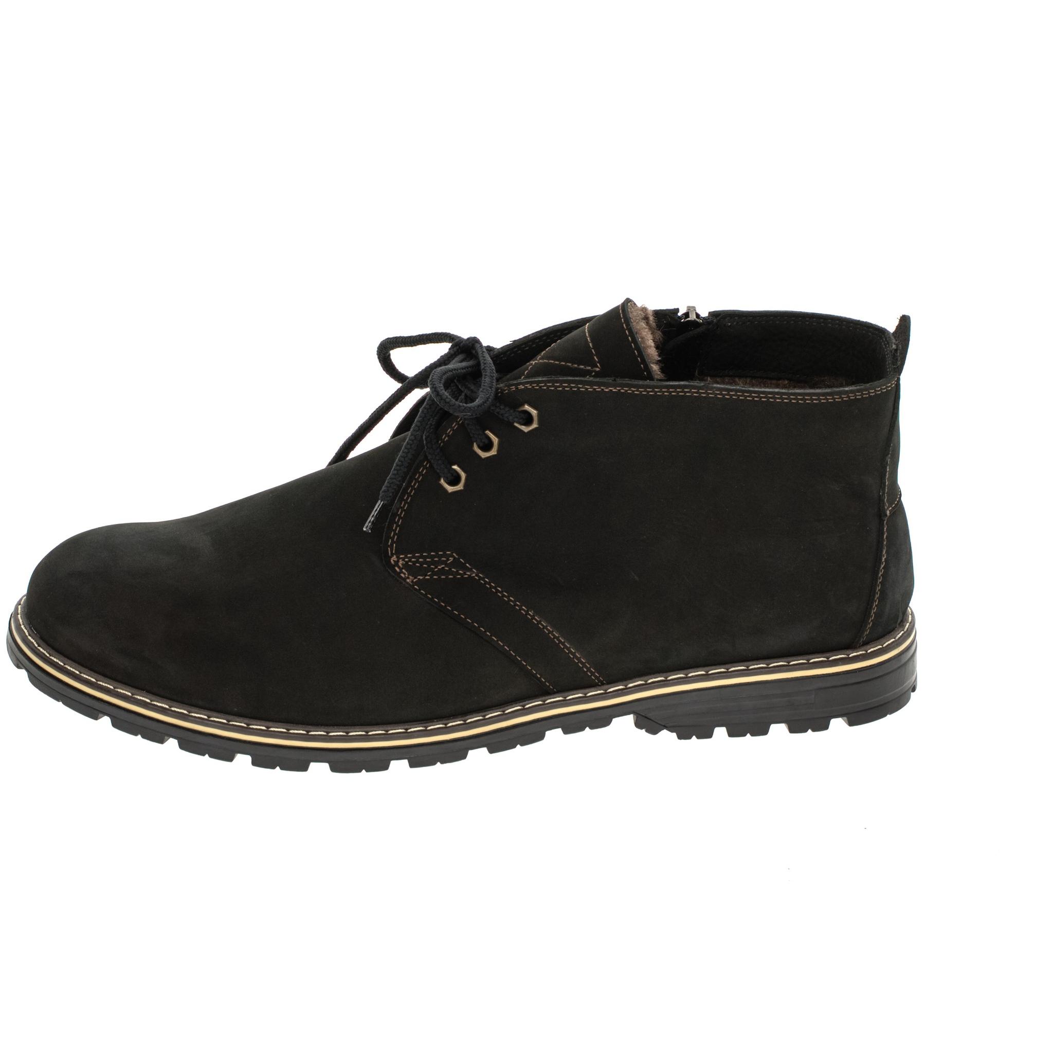 565483 ботинки мужские черные больших размеров марки Делфино