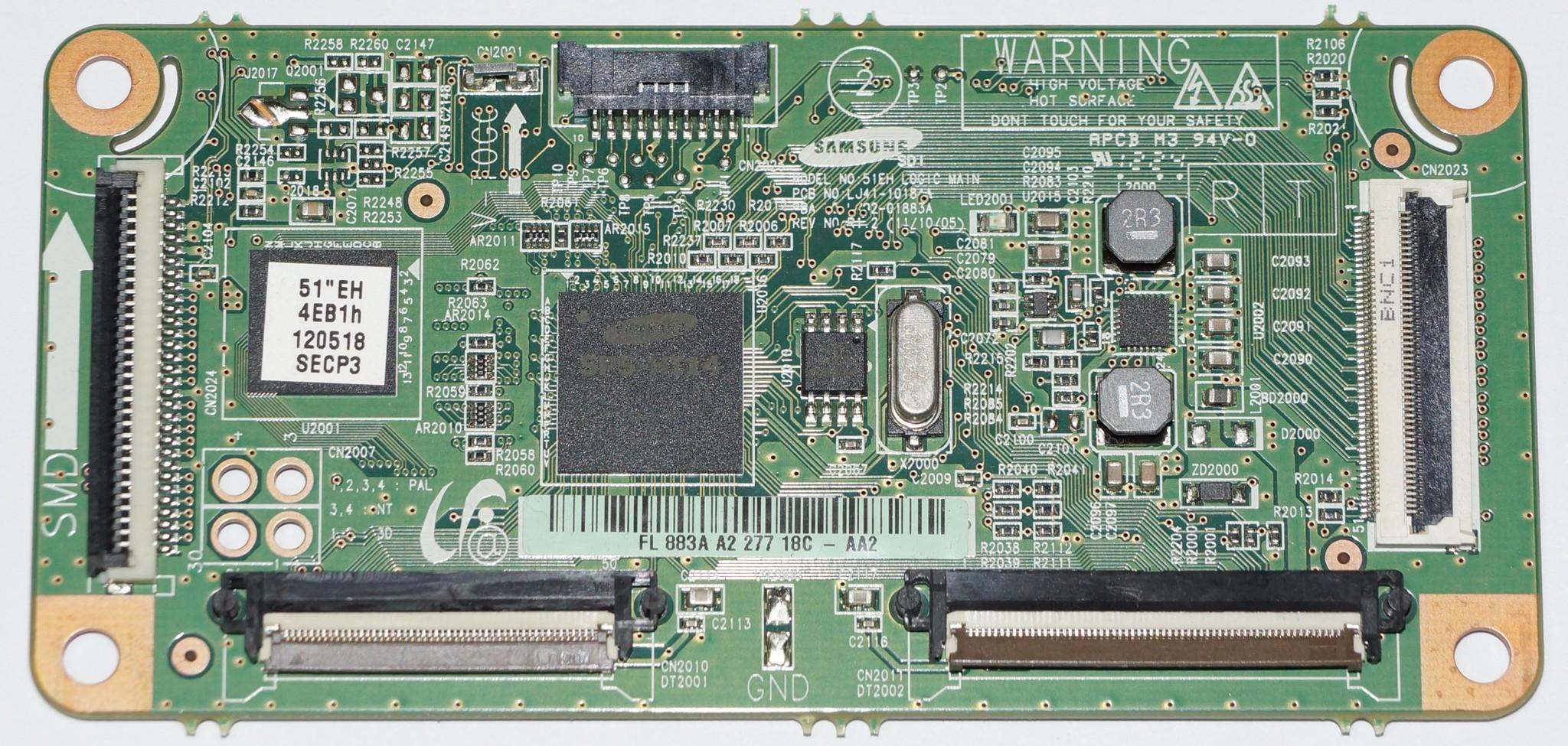 LJ41-10184A LJ92-01883A t-con телевизора Samsung PS51E452A4W
