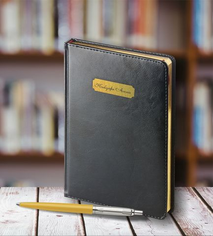 Набор с гравировкой: Ежедневник  и Шариковая ручка Parker Jotter 125th Yellow123
