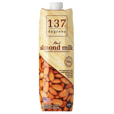 Молоко миндальное без сахара 137 Degrees, 1л