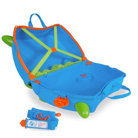 Чемодан на колесиках Terrance, голубой, Trunki