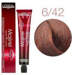 L'Oreal Professionnel Majirel 6.42 (Темный блондин медный перламутровый) - Краска для волос