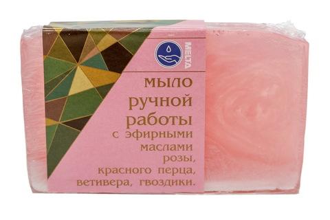 Melta Мыло ручной работы с эфирными маслами Розовое 100гр