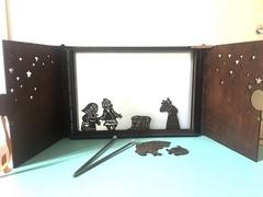 театр теней ЛАЙТ + набор фигурок ПРИНЦЕССА И ДРАКОН в подарочной коробке
