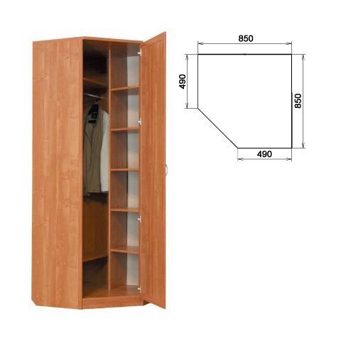 Шкаф угловой со штангой и полками (Гарун-400)