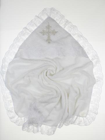 Крыжма для крещения махровая Ласковая белая