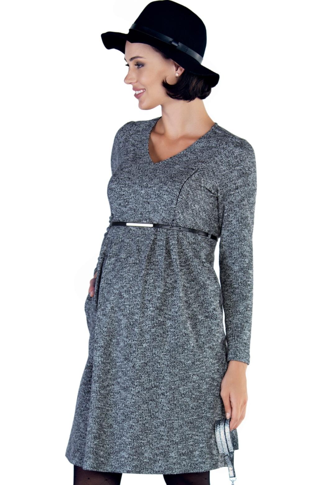 Фото платье для беременных и кормящих EBRU от магазина СкороМама, серый, размеры.