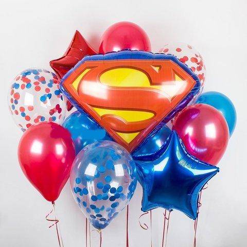 Фонтан из шаров Супермен