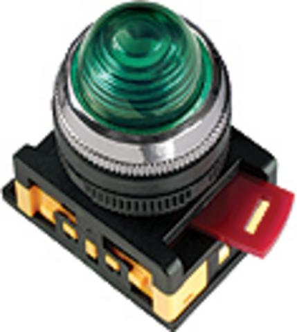 Лампа AL-22 сигнальная d22мм зеленый неон/230В цилиндр TDM