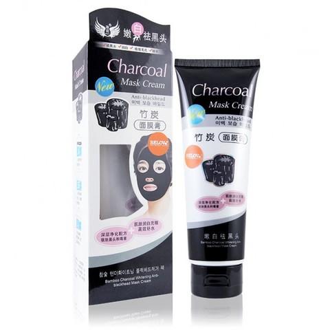 Очищающая маска-крем для лица CHARCOAL CREAM MASK с бамбуковым углем 130 мл.