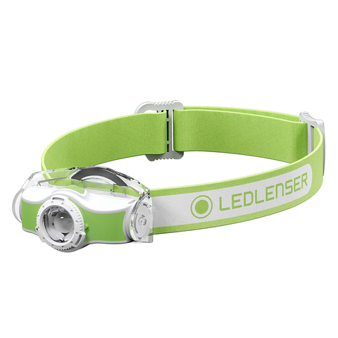 Фонарь светодиодный налобный LED Lenser MH3, зеленый, 200 лм, 1-АА