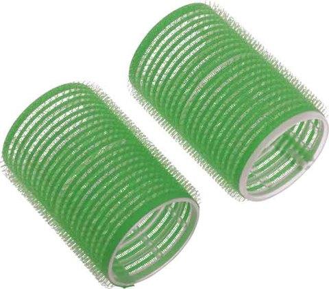 Бигуди-липучки зеленые d 48 мм 10 шт