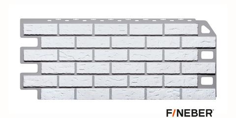 Фасадная панель Fineber Кирпич мелованный белый 1137х470 мм