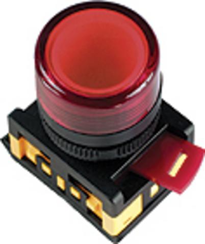 Лампа AL-22TE сигнальная d22мм белый неон/230В цилиндр TDM