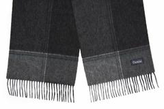 Шерстяной шарф серо-черный 31541