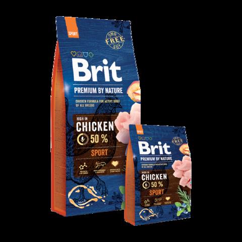 Brit Premium By Nature Sport Сухой корм для взрослых собак с высокой активностью