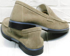 Модные женские туфли на низком каблуке Osso 2668 Beige.