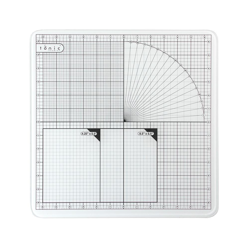 Стеклянный коврик Glass Cutting Mat от Tonic studios - 30,5х30,5 см
