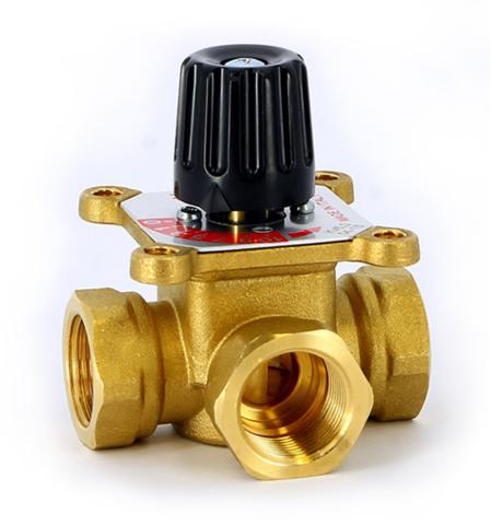 Трёхходовой 3-х ходовой смесительный клапан Uni-Fitt 1