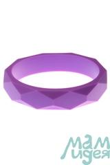 Молочный браслет из пищевого силикона МАМидея фиолетовый