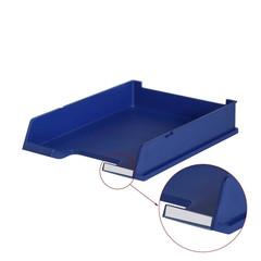 Лоток для бумаг HAN горизонтальный с индексным окном синий матовый
