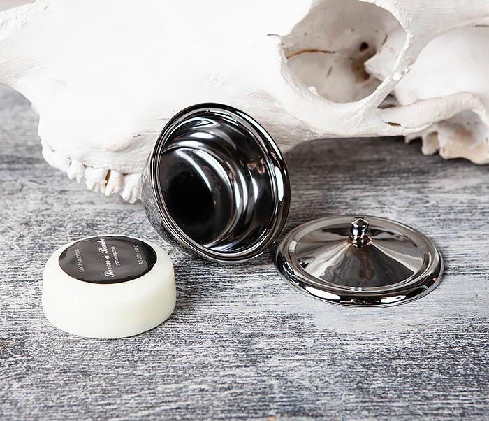 RAZ360 Стальная чаша и мыло для бритья с крышкой