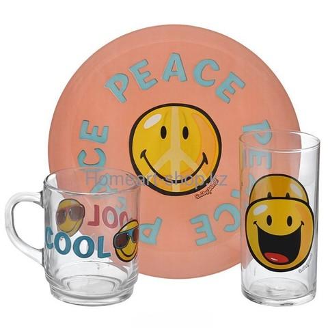 Набор детской посуды Luminarc Smiley World First  - 3 пр.