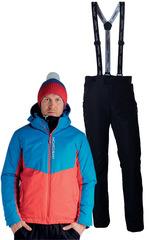 Утеплённый прогулочный лыжный костюм Nordski Montana Blue-Red мужской