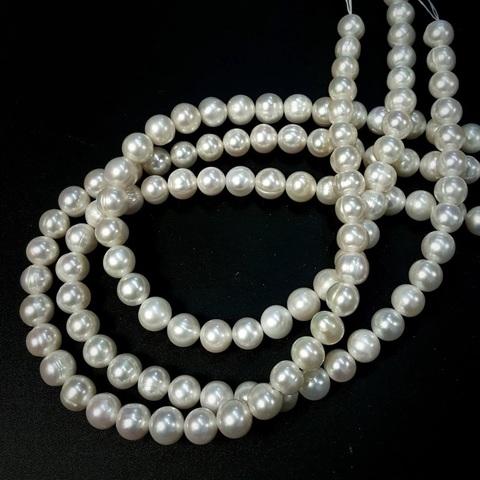 Жемчуг белый натуральный шар 9-9,5 мм