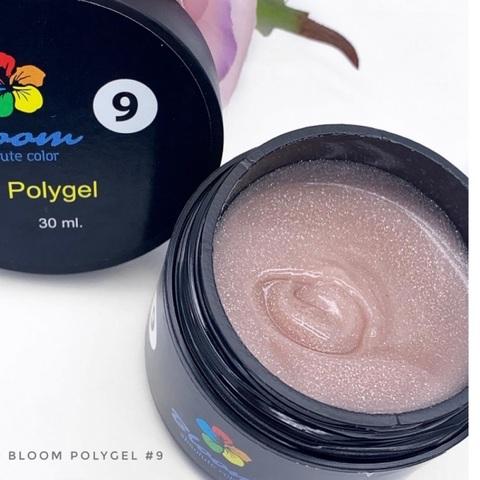 Bloom Полигель№9 искрящийся светло-розовый (30 мл)