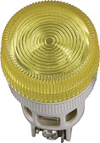 Лампа ENR-22 сигнальная d22мм желтый неон/230В цилиндр TDM