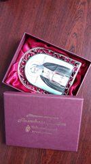 Икона финифть Пресвятая Богородица Троеручица