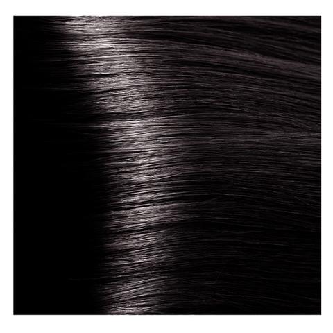 Крем краска для волос с гиалуроновой кислотой Kapous, 100 мл - HY 4.8 Коричневый какао