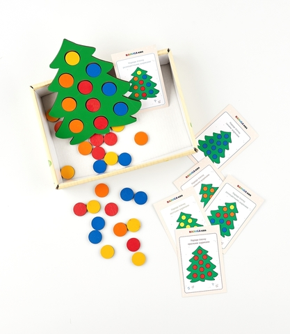 Мозаика Елочка нарядная с карточками RadugaKids (Радуга Кидс)