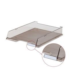 Лоток для бумаг HAN горизонтальный с индексным окном прозрачный тонированный