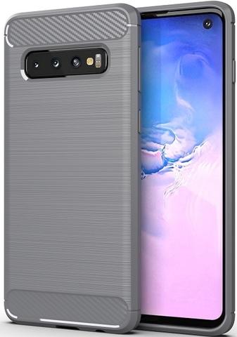 Чехол Samsung Galaxy S 10 цвет Gray (серый), серия Carbon, Caseport