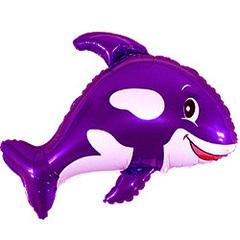 F Мини-фигура Дружелюбный кит (фиолетовый) 14