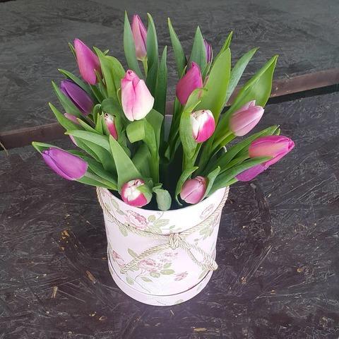 Коробка с тюльпанами 3