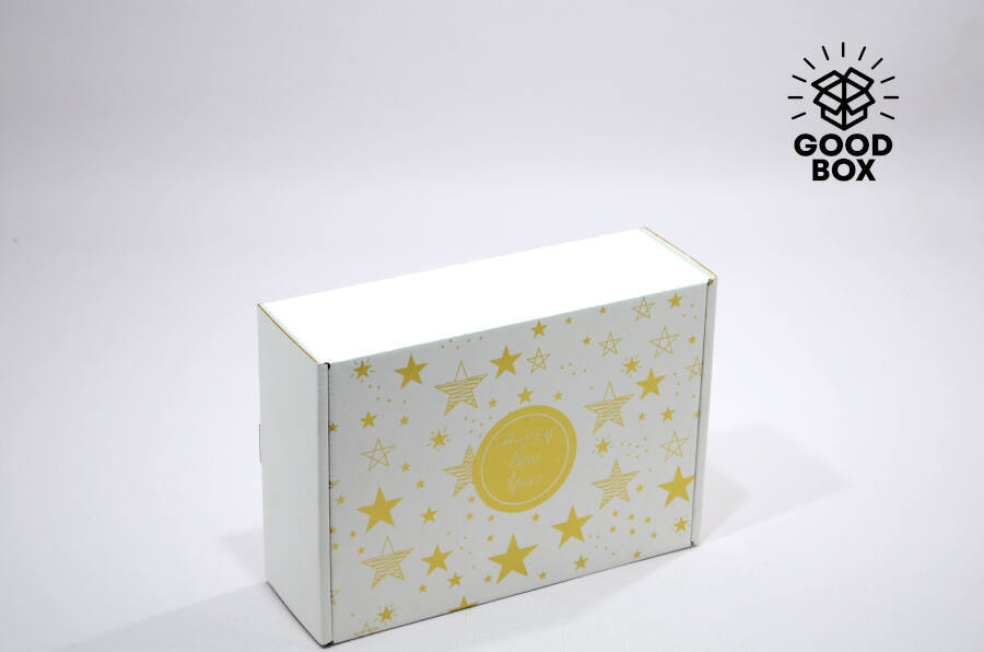 Новогодняя коробка с тематикой космос купить в Алматы