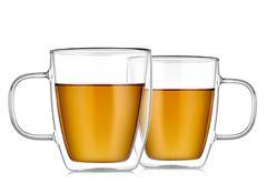 Кружки с двойными стенками 350 мл стеклянные для кофе и чая, набор из 2 штук