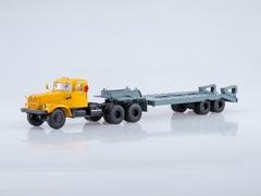 KRAZ-258B1 with semitrailer-heavy-carrier ChMZAP-5523 yellow-gray 1:43 AutoHistory