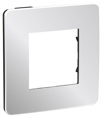Рамка на 1 пост. Цвет Хром/антрацит. Schneider Electric Unica Studio. NU280256