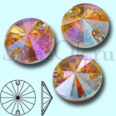 Купите оптом стразы пришивные Rivoli Light colorado topaz AB, Риволи АБ с радужным покрытием