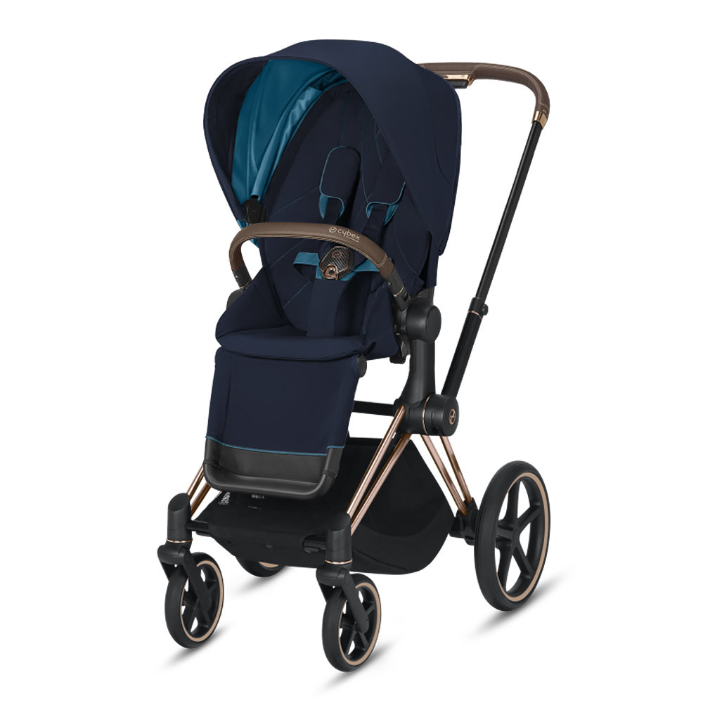 Прогулочная коляска Cybex Priam III 2020 Прогулочная коляска Cybex Priam III Nautical Blue Rosegold cybex-priam-IV-nautical-blue-rosegold.jpg