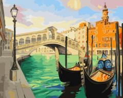 Мост в Венеции- раскраски  по номерам