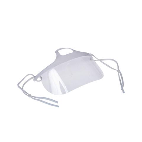Защитный экран-маска многоразовый голубой/белый прозрачный, 1 шт.